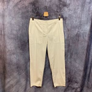 NWT Eileen Fisher White Cotton Ankle Pant 6